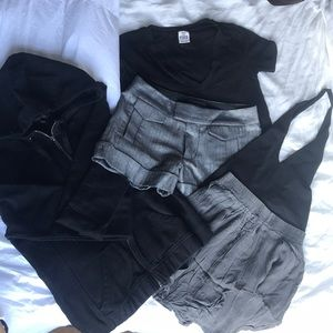 5 for $25 black and grey size 0 small bundle
